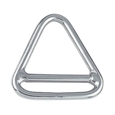 Triangle Ring With Cross Bar on stainless door s