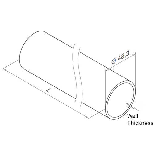 Stainless Steel Balustrade 48.3mm Tube Diagram