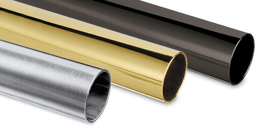 Stainless Steel and Brass Finish Tube for Bar Rails and Bar Fittings