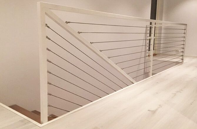 Balustrade Wire Infill on Norwegian Staircase