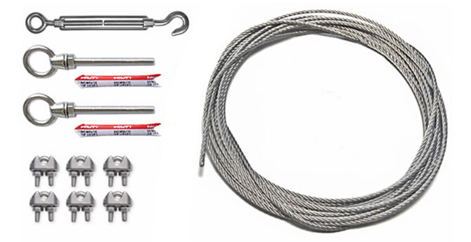 Standard Catenary Wire Kit Components