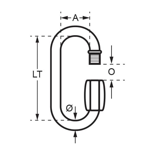 Stainless Steel Quick Link Standard - Diagram