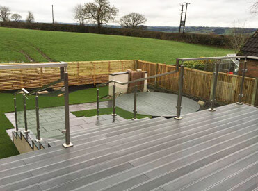 Stylish square line balustrade