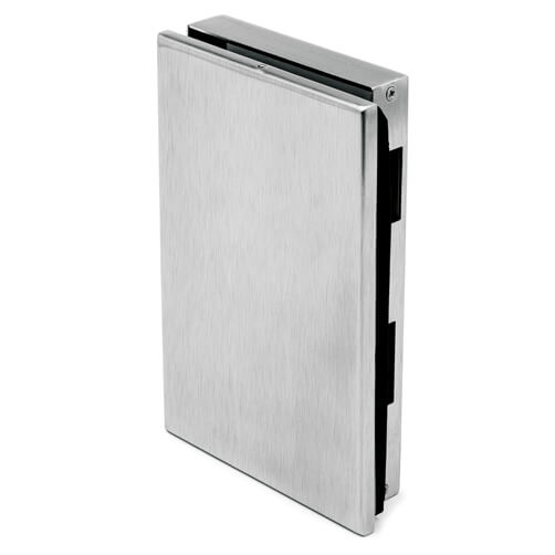 Glass Door Strike Box - Left - Stainless Steel