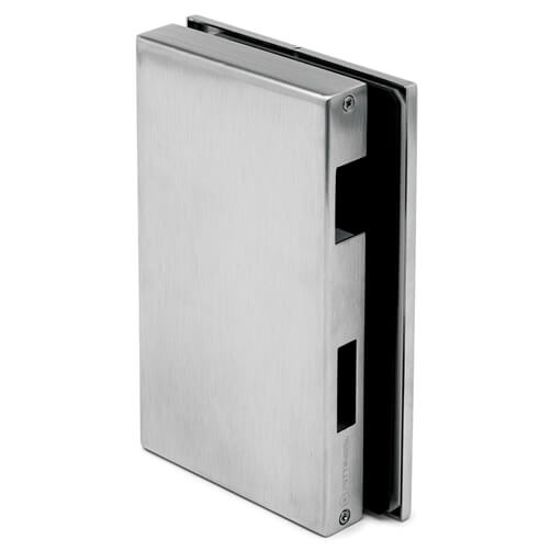 Glass Door Strike Box - Right- Stainless Steel
