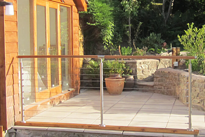 Stainless Steel Tubular Balustrade with Wire Infill