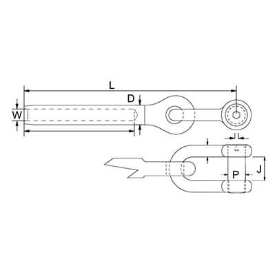 Swage Shackle Toggle Diagram