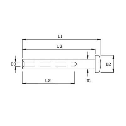 Swage Domehead Terminal Small - Diagram