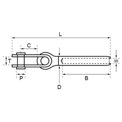 Strap Toggle Fork Diagram