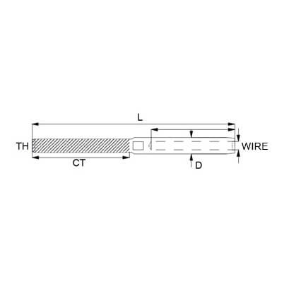 Swage Stud - Metric Thread - Dimensions