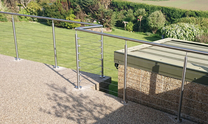 Garden Patio Wire Balustrade, Swansea