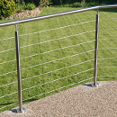 Raised Patio Wire Balustrade - Swansea
