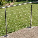 Raised Patio Wire Balustrade - Swansea