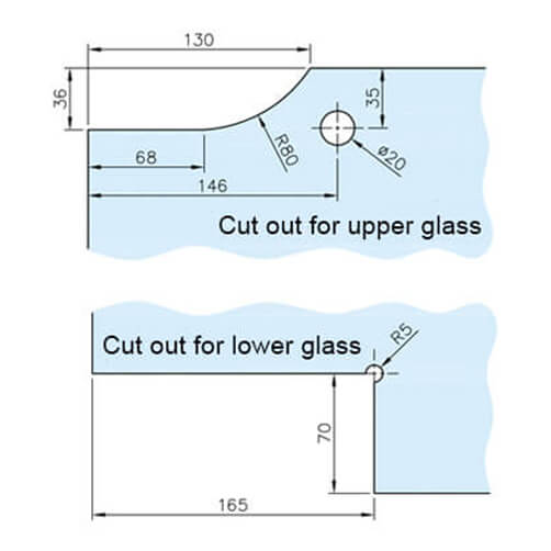 Glass Swing Door Patch Kit - Glass Cutting
