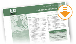 Download TDA Statutory Requirements
