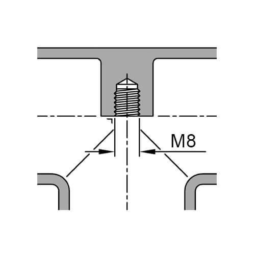 Tube Connector - Flush Tee with 90 Degree Outlet - Inner Thread