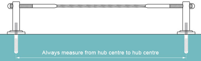 Measure From Hub Centre To Hub Centre