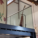 Powder Coated Glass Balustrade - The Chapel