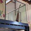 Powder Coated Glass Balustrade - The Chapel