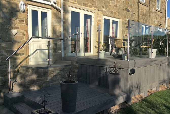 Glass and Stainless Steel Balustrade Installation North Yorkshire