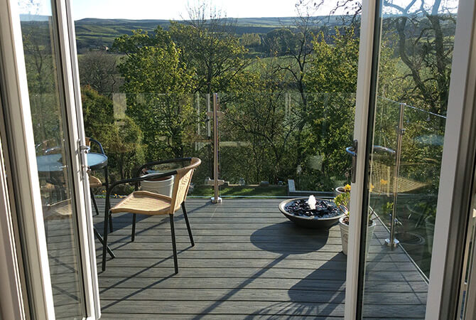 Unspoilt Views from the Raised Decking Area