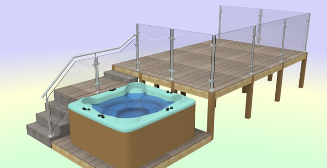 Raised Decking Area Design by S3i Group