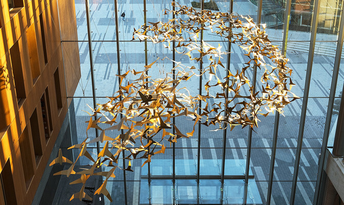 Together Sculpture in the new City Hall, City of Surrey, Vancouver