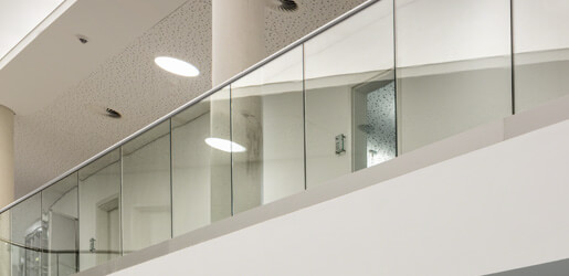 Top Mounting F Shaped Profiles - Frameless Pro Glass Balustrade