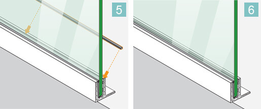 Top Mounting F Shaped - Frameless Pro Glass - Balustrade Installation 5-6