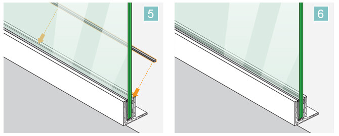 Top Mounting F Shaped Frameless Pro Glass Balustrade Installation 5-6