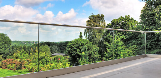 Frameless Top Mount Glass Channel Balustrade
