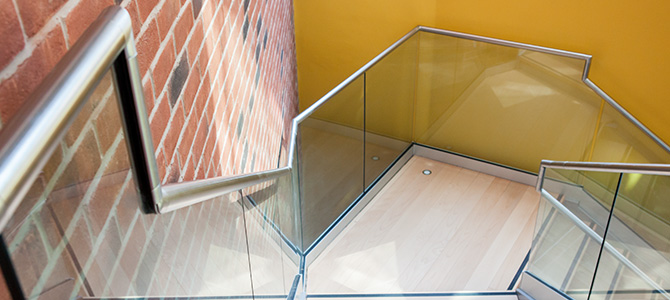 Frameless Top Mount Glass Balustrade Installation