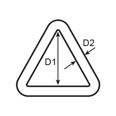 Stainless Steel Triangle Ring Diagram