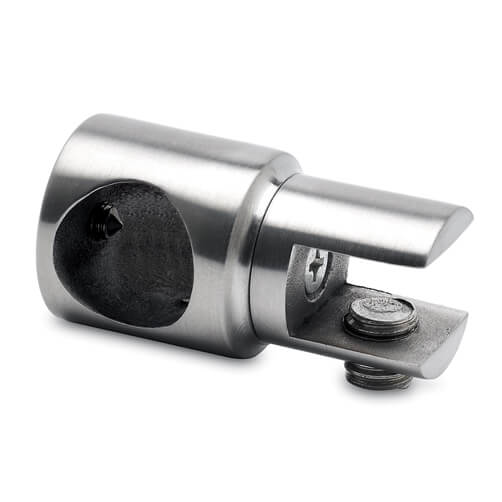 Tube Bracket with Glass Clamp - End Mount