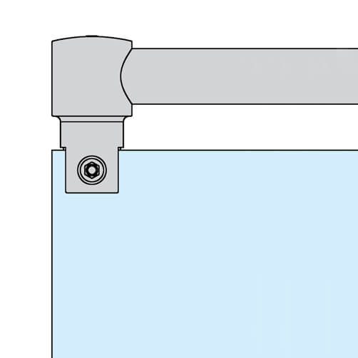 Tube Bracket with Glass Clamp - Position