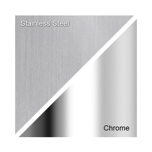 Stainless Steel and Chrome Finishes