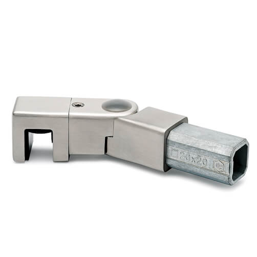 Square Tube Insert with Glass Clamp - Adjustable