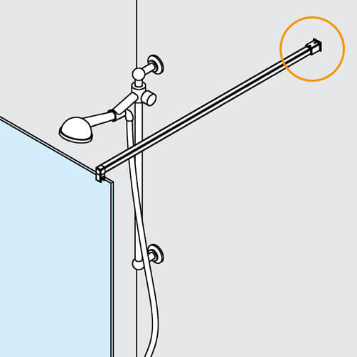 Square Tube Mounting Bracket - Position