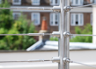 Tube Mounting Wire Balustrade