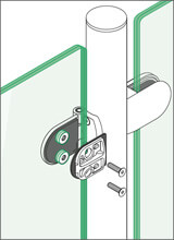 Tube to Glass Hinge - Glass Installation