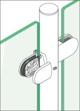 Tube to Glass Hinge - Cover Installation