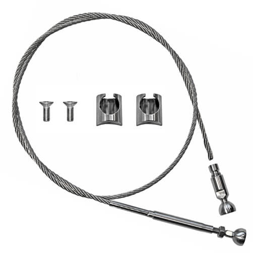 Tube Mount Balustrade Wire Kit - Components