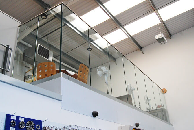 Glass Channel Balustrade - Turners Retreat - Harworth