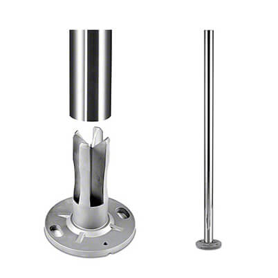 Ultra Stainless Steel Baluster End Post With Base
