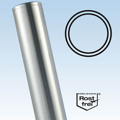 Ultra Stainless Steel Baluster Post - Un-Drilled