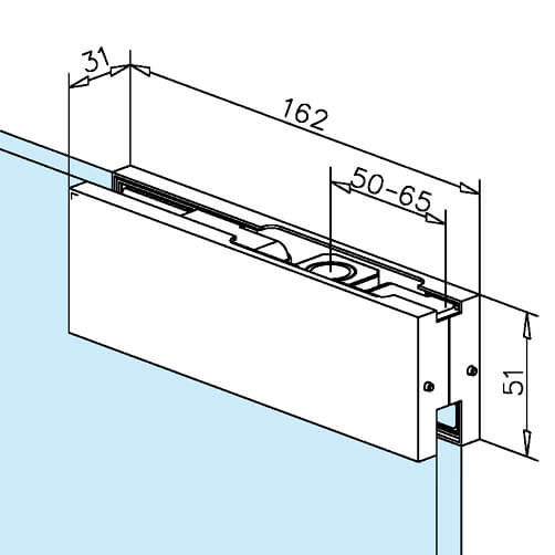 Glass Door Patch - Upper Corner - Dimensions