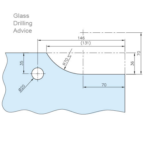 Glass Door Patch - Upper Corner - Drilling