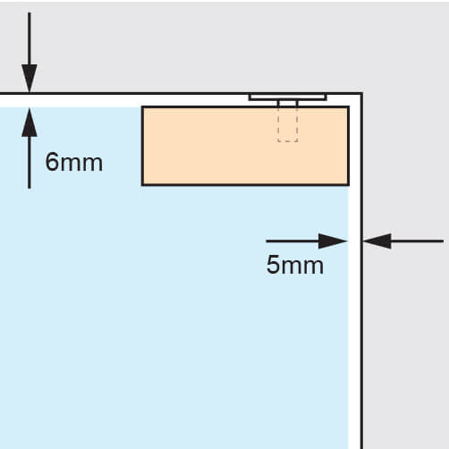 Glass Door Patch - Upper Corner - Spacing
