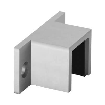 Wall Mount Flange Fixing - 33x39mm Profile - Aluminium