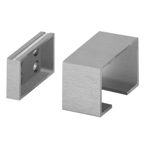 Wall Flange for Glass Channel Handrail - LED Lighting